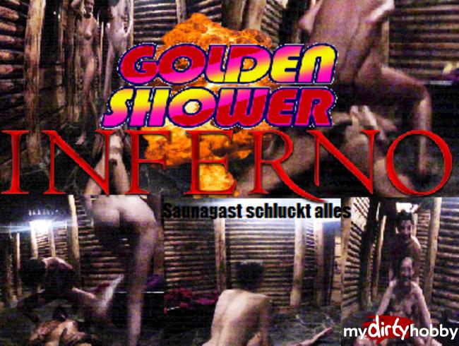Golden Shower Inferno - Saunagast schluckt alles
