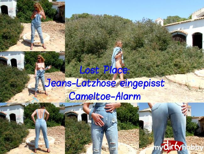 Lost Place: Jeans-Latzhose eingepisst, Cameltoe-Alarm