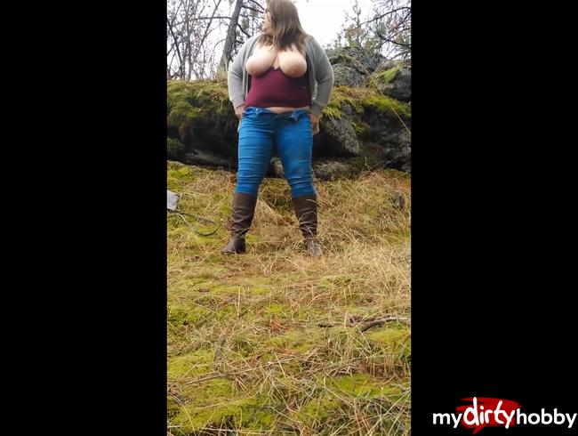 Outdoor Piss! Schon mit 19 schamlos in die Natur gepisst!!!
