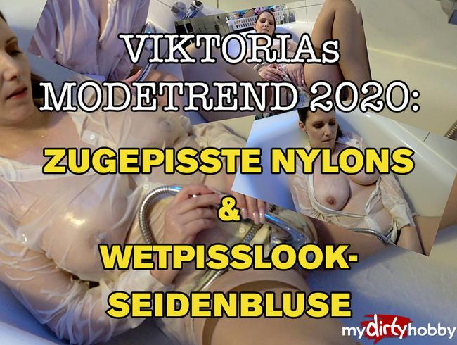ZUGEPiSSTE NYLONS & WETPiSSLOOK-SEiDENBLUSE - VIKTORIAS PISS-PAGE 2