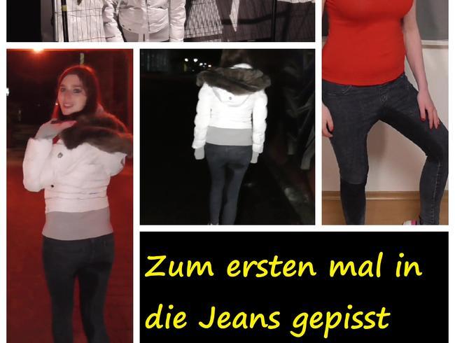 Zum ersten mal in die Jeans gepisst