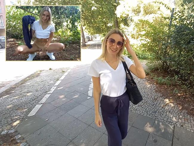 Publik pissen im Park